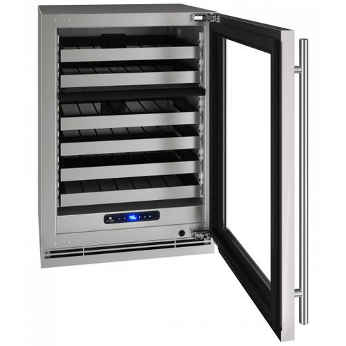 "Hwd524 24"" Dual-zone Wine Refrigerator With Stainless Frame Finish and Left-hand Hinge Door Swing (115 V/60 Hz Volts /60 Hz Hz)"