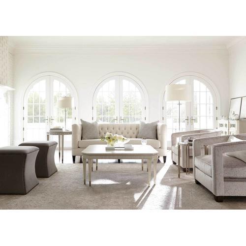 Allure Square Cocktail Table in Silver Mist (399), Manor White (399)