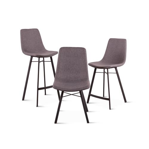 Sam Dark Gray Linen Counter Chair