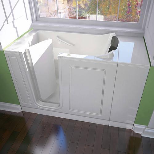 American Standard - Luxury Series 28x48-inch Whirlpool Walk-in Tub  Left Drain  American Standard - White