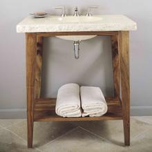 Integral Sink Wood