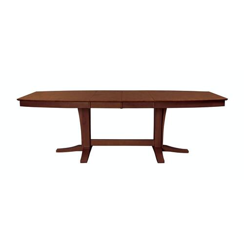 Milano Double Pedestal Extension Table in Espresso