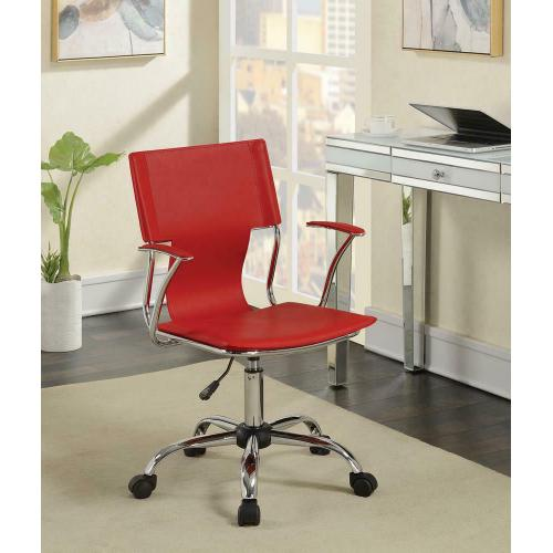 See Details - Contemporary Red Office Chair