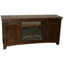"""See Details - 70"""" Reclaim Barn Door Tv/fireplace"""
