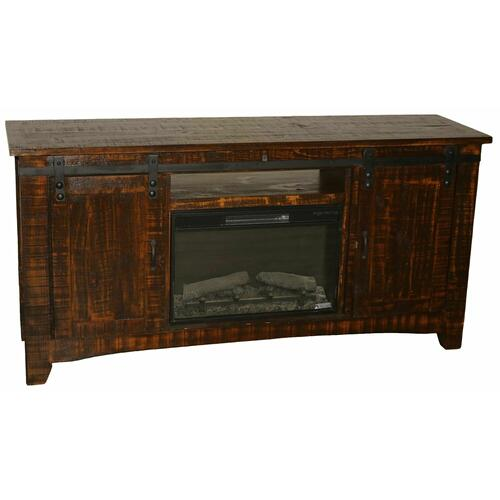 "Million Dollar Rustic - 70"" Reclaim Barn Door Tv/fireplace"