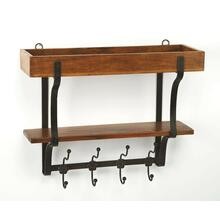 Bring rustic chic design and organization into your home with this hefty uniquely crafted wall organizer. Suitable for any front hallway, foyer or mudroom, the single compartment, shelf and 4 hooks, provides ample storage for everyone in your family, perfect to store your keys, mail or pet leashes. Looks great against white washed ship-lap walls.