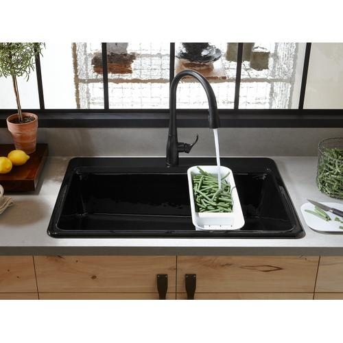 "Cashmere 33"" X 22"" X 9-5/8"" Top-mount Single-bowl Workstation Kitchen Sink With Accessories"