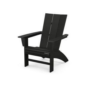 Polywood Furnishings - Modern Curveback Adirondack in Black