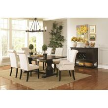 See Details - Parkins Traditional Rustic Espresso and White Seven-piece Dining Set