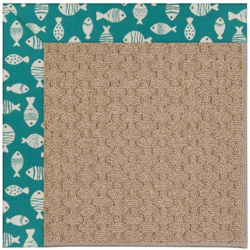 """Creative Concepts-Grassy Mtn. Go Fish Turquoise - Rectangle - 24"""" x 36"""""""