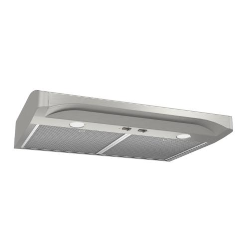 Alta 1 36-inch 250 CFM Stainless Steel Range Hood with light