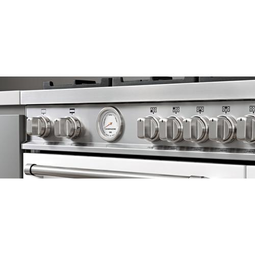Bertazzoni - 48 inch Dual Fuel Range, 6 burners and Griddle, Electric Oven Stainless Steel