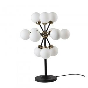 Cruz Table Lamp/Metal+Frosted Glass/Polished Brass+Matte Black/22*22*29.5
