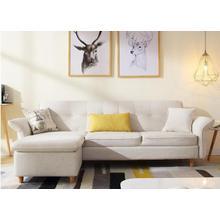 See Details - Divani Casa Jeremiah Modern Ivory Fabric Sofabed & Ottoman w/ Storage
