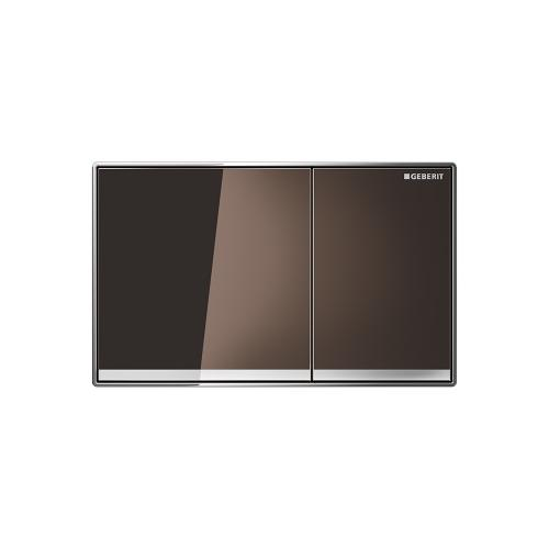Sigma60 Dual-flush plates for Sigma series in-wall toilet systems Umber glass Finish