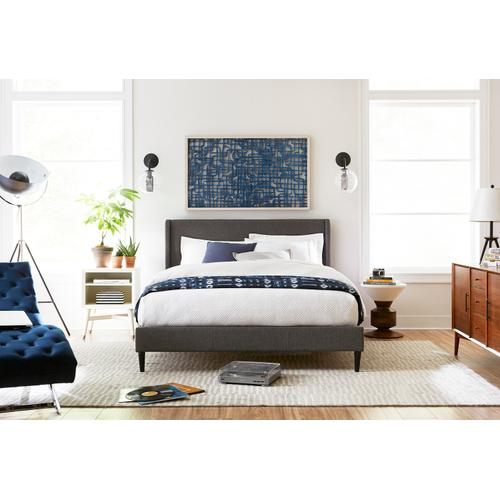 Oslo King Bed, Heather Charcoal