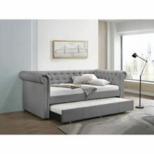 ACME Justice Daybed & Trundle (Twin Size) - 39405 - Smoke Gray Fabric