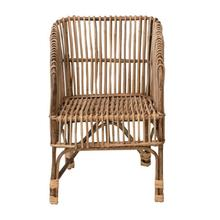 """Product Image - 21.5""""W x 19.25""""D x 32.5""""H Rattan Arm Chair, Truck Ship"""