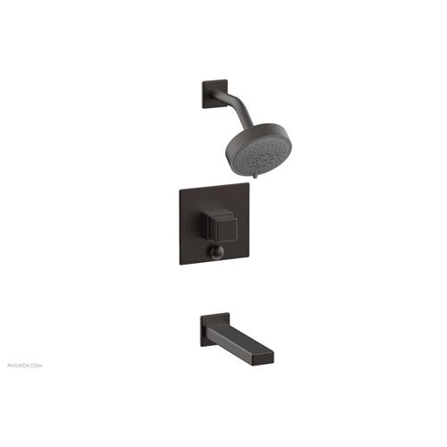 MIX Pressure Balance Tub and Shower Set - Cube Handle 290-29 - Oil Rubbed Bronze