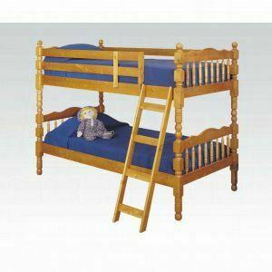 ACME Homestead Twin/Twin Bunk Bed - 02301_KIT - Honey Oak