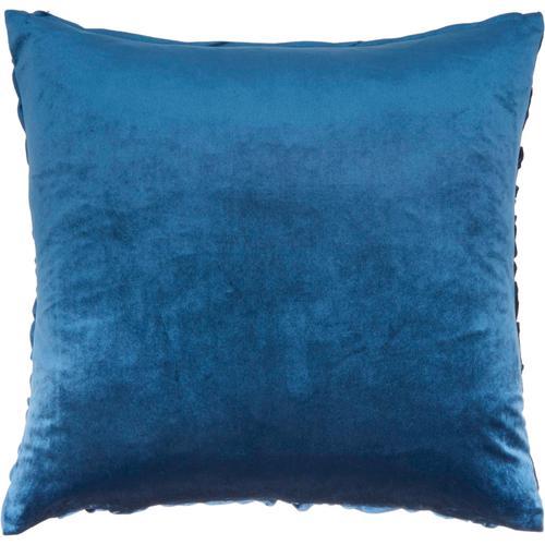 "Life Styles L0066 Navy 22"" X 22"" Throw Pillow"