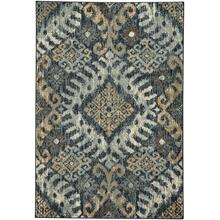 Beckett-Diamond Blue Gold Machine Woven Rugs