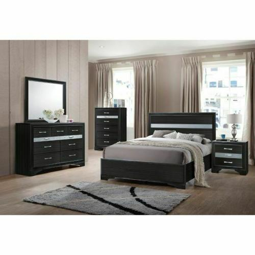 ACME Naima Full Bed (No Storage) - 25915F - Black