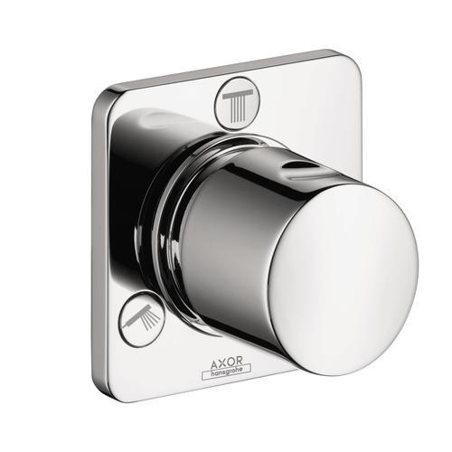 Chrome Shut-off/ diverter valve Trio/ Quattro for concealed installation