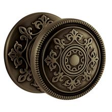 View Product - Satin Brass and Black K006 Estate Knob