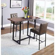 Industrial Gunmetal Live-edge Bar Table Product Image