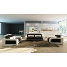 Product Image - Divani Casa 1005B Modern Black and White Bonded Leather Sofa Set