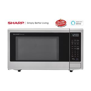 Sharp1.4 cu. ft. 1000W Sharp Stainless Steel Smart Carousel Countertop Microwave Oven