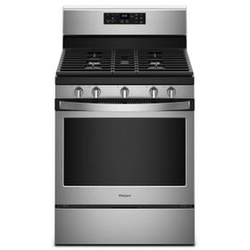 5.0 cu. ft. Freestanding Gas Range with Center Oval Burner Fingerprint Resistant Stainless Steel