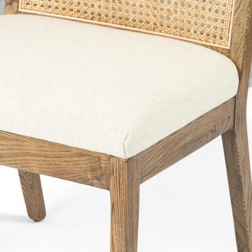 Toasted Nettlewood Finish Antonia Cane Armless Dining Chair