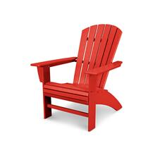 Sunset Red Nautical Curveback Adirondack Chair