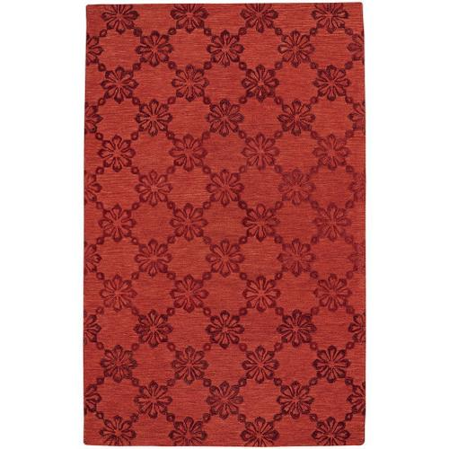 Daisy Chain Red - Rectangle - 5' x 8'