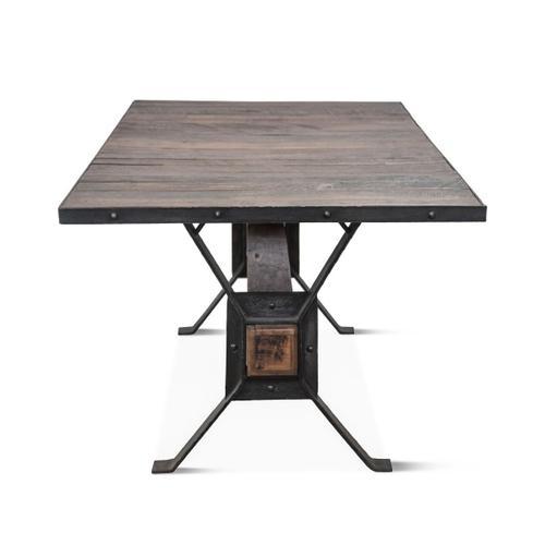 """Industrial Teak 78"""" Reclaimed Wood Dining Table"""