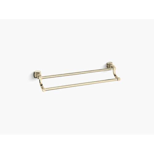 """Vibrant French Gold 24"""" Double Towel Bar"""