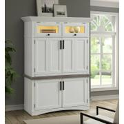 AMERICANA MODERN - COTTON Workstation with LED Light Product Image