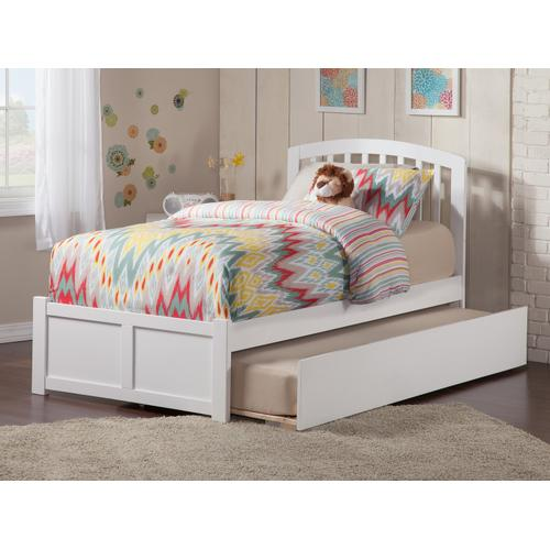 Richmond Twin Flat Panel Foot Board with Urban Trundle White