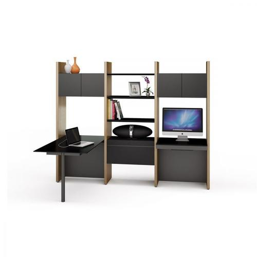 BDI Furniture - Semblance Systems ® 5413-PD in Chocolate Stained Walnut Black