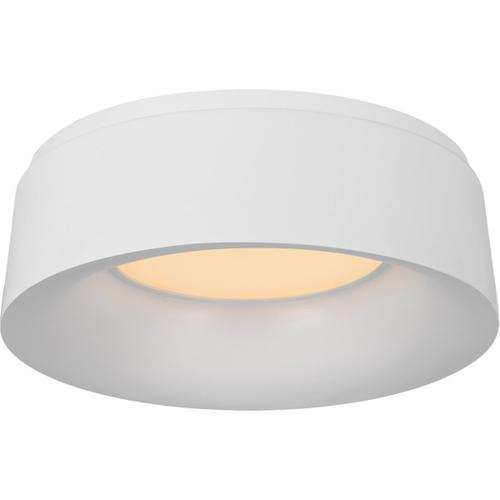 Barbara Barry Halo 1 Light 11 inch Matte White Flush Mount Ceiling Light