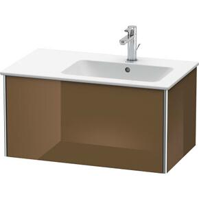 Vanity Unit Wall-mounted, Olive Brown High Gloss (lacquer)
