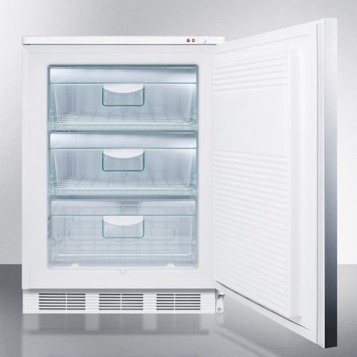 Commercial Freestanding Medical All-freezer Capable of -25 C Operation, With Stainless Steel Door and Horizontal Handle
