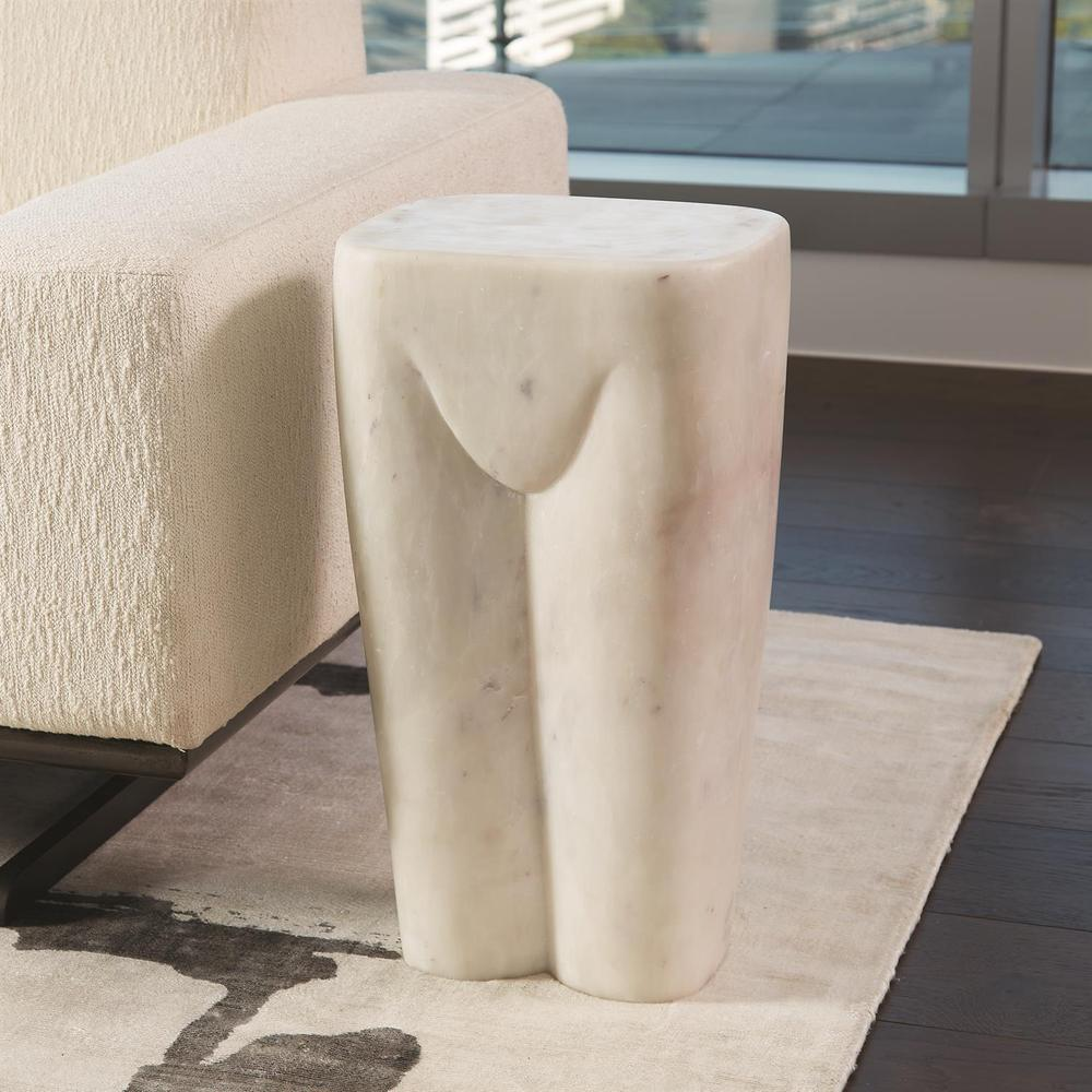 See Details - Femme Stool-White Marble