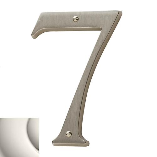 Polished Nickel House Number - 7
