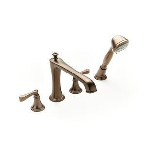 Berea Deck-mount Bathtub Faucet with Handshower Trim - Phase out - Bronze