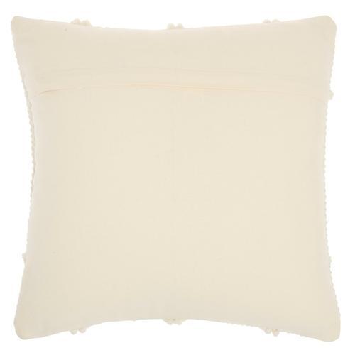 """Life Styles Gc101 Ivory 18"""" X 18"""" Throw Pillow"""