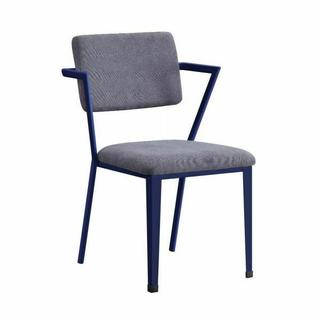 ACME Cargo Chair - 37908 - Gray Fabric & Blue