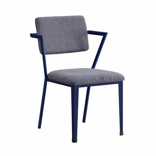 ACME Cargo Chair - 37908 - Gray Fabric & Blue